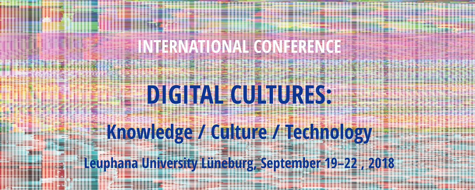 Presentation at Digital Cultures 2018 Conference at Leuphana
